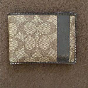 Coach Men's bifold wallet